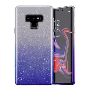 Gradual Shining Flash Sequins Glitter TPU+PC Protective Case For Galaxy S9(Gradual Blue)