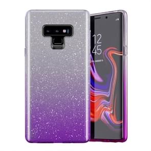 Gradual Shining Flash Sequins Glitter TPU+PC Protective Case For Galaxy S10 Plus(Gradual Purple)