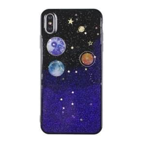 Universe Planet TPU beschermhoes voor iPhone X & XS (Universal case A)