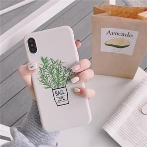 Groene bloemen TPU telefoon Case voor iPhone 8 plus & 7 Plus (groene bloemen model A)