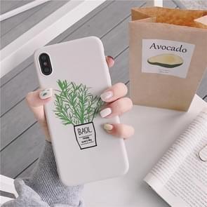 Groene bloemen TPU telefoon Case voor iPhone 8 & 7 (groene bloemen model A)