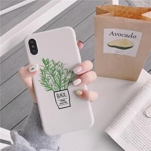 Groene bloemen TPU telefoon Case voor iPhone XS Max (groene bloemen model A)
