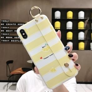 Lemon Pattern Wrist Strap TPU Case For Galaxy S10(Lemon Pattern model B)