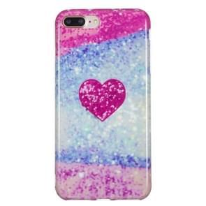 iPhone 7 Plus & 8 Plus Roze LOVE hartje patroon TPU back cover Hoesje