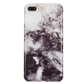 iPhone 7 Plus & 8 Plus Zwart wit marmer patroon TPU back cover Hoesje