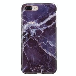 iPhone 7 Plus & 8 Plus Grijs marmer patroon TPU back cover Hoesje