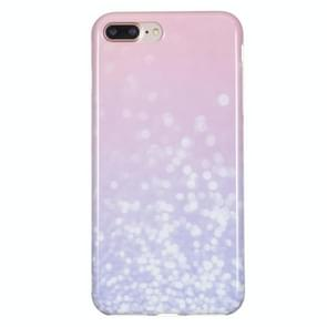 iPhone 7 Plus & 8 Plus Licht roze patroon TPU back cover Hoesje