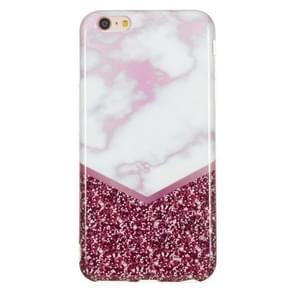 TPU beschermhoes voor iPhone 6 & 6s (Rose Flash marmer)