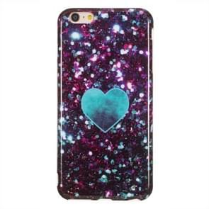 TPU beschermhoes voor iPhone 6 plus & 6s plus (groen hart)