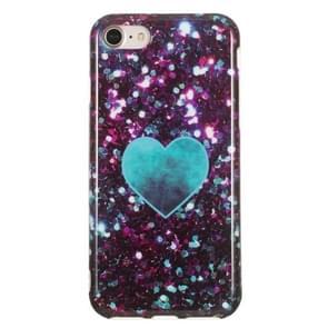 TPU beschermhoes voor iPhone 8 & 7 (groen hart)