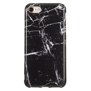 TPU beschermhoes voor iPhone 8 & 7 (zwart marmer)