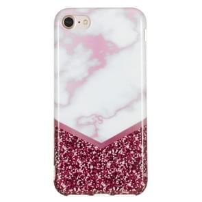 TPU beschermhoes voor iPhone 8 & 7 (Rose Flash marmer)