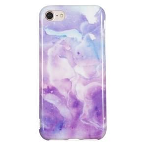 TPU beschermhoes voor iPhone 8 & 7 (paars marmer)