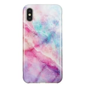 TPU Protective Case For iPhone X & XS(Pink Green Marble)