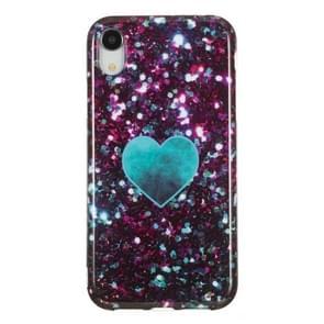 TPU beschermhoes voor iPhone XR (groen hart)