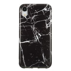 TPU beschermhoes voor iPhone XR (zwart marmer)