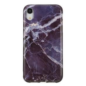 TPU beschermhoes voor iPhone XR (grijs marmer)