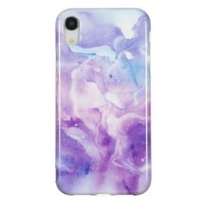 TPU beschermhoes voor iPhone XR (paars marmer)