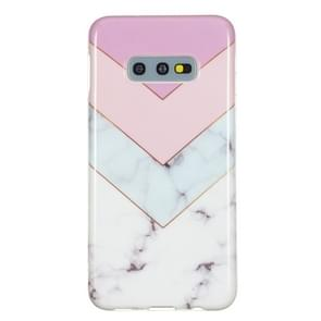 TPU beschermende case voor Galaxy S10e (stiksels tricolor)