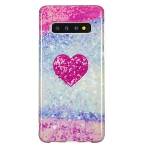 TPU beschermhoes voor Galaxy S10 (rood hart)