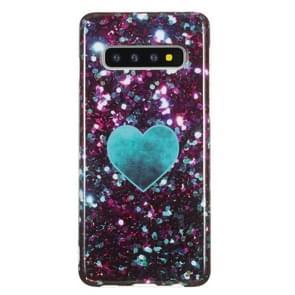 TPU beschermhoes voor Galaxy S10 (groen hart)