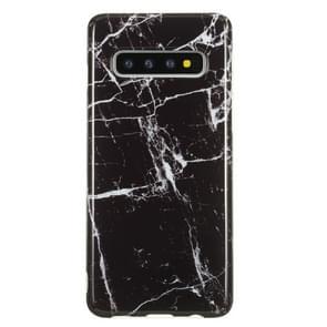 TPU beschermhoes voor Galaxy S10 (zwart marmer)