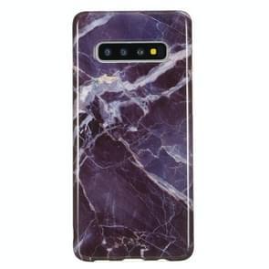 TPU beschermhoes voor Galaxy S10 (grijs marmer)