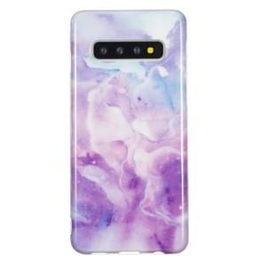 TPU beschermhoes voor Galaxy S10 (paars marmer)