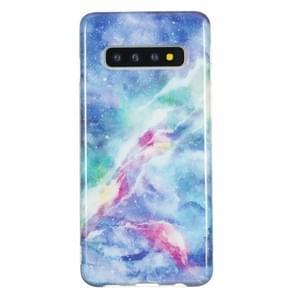 TPU beschermhoes voor Galaxy S10 plus (Blue Star)
