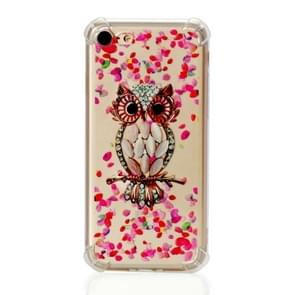 TPU Protective Case For iPhone 8 & 7(Pink Owl)