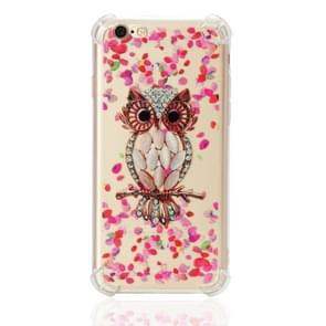 TPU Protective Case For iPhone 6 & 6s(Pink Owl)