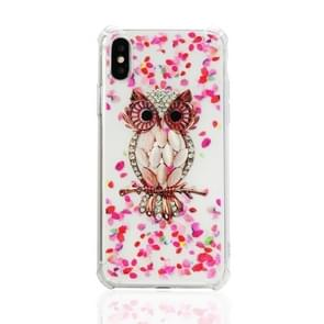 TPU Protective Case For iPhone X & XS(Pink Owl)