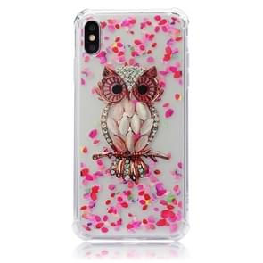 TPU Protective Case For iPhone XS Max(Pink Owl)