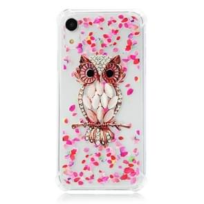 TPU Protective Case For iPhone XR(Pink Owl)