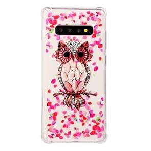 TPU Protective Case For Galaxy S10 Plus(Pink Owl)
