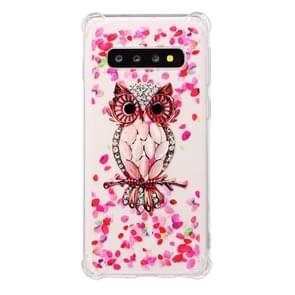 TPU Protective Case For Galaxy S10(Pink Owl)