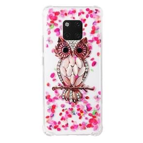 TPU Protective Case For Huawei Mate 20 Pro(Pink Owl)