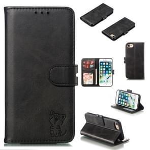 Lederen beschermhoes voor iPhone & (zwart)