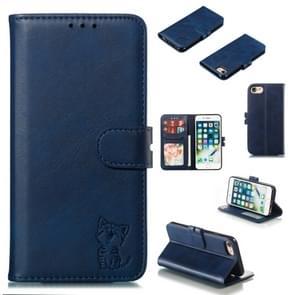 Lederen beschermhoes voor iPhone 8 & 7 (blauw)