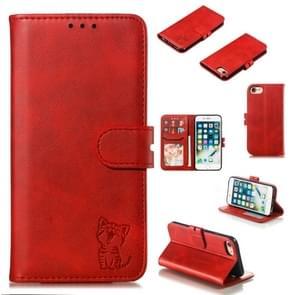 Lederen beschermhoes voor iPhone 8 & 7 (rood)
