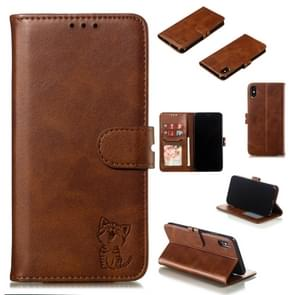Leather Protective Case For iPhone XS Max(Brown)