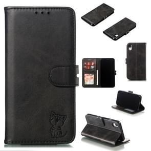 Lederen beschermhoes voor iPhone XR (zwart)
