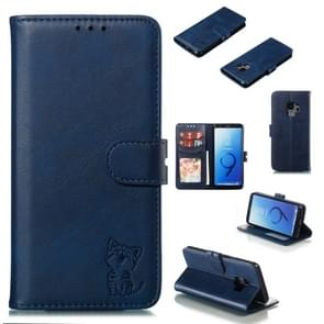 Leather Protective Case For Galaxy S9(Blue)