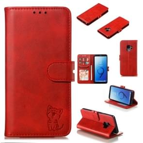 Leather Protective Case For Galaxy S9(Red)