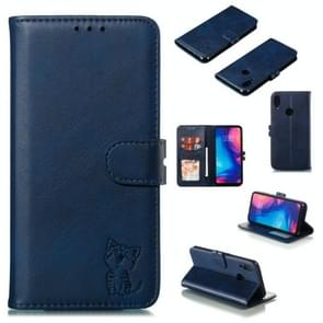 Leather Protective Case For Redmi Note 7(Blue)