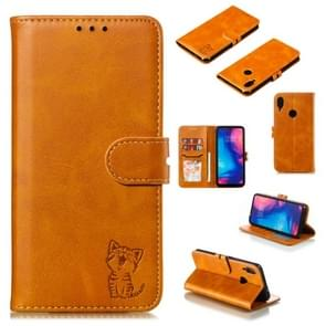 Leather Protective Case For Redmi Note 7(Yellow)