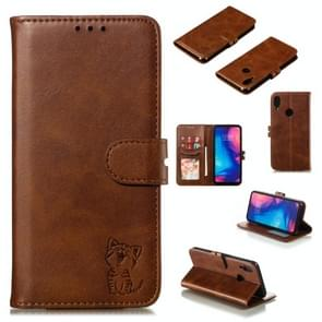 Leather Protective Case For Redmi Note 7(Brown)
