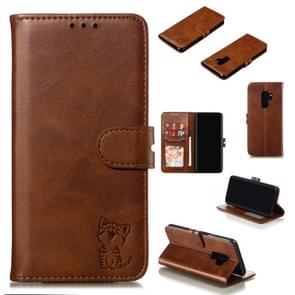 Leather Protective Case For Galaxy S9 Plus(Brown)