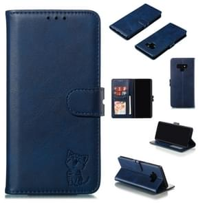 Leather Protective Case For Galaxy Note9(Blue)