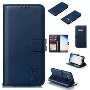 Leather Protective Case For Galaxy S10e(Blue)